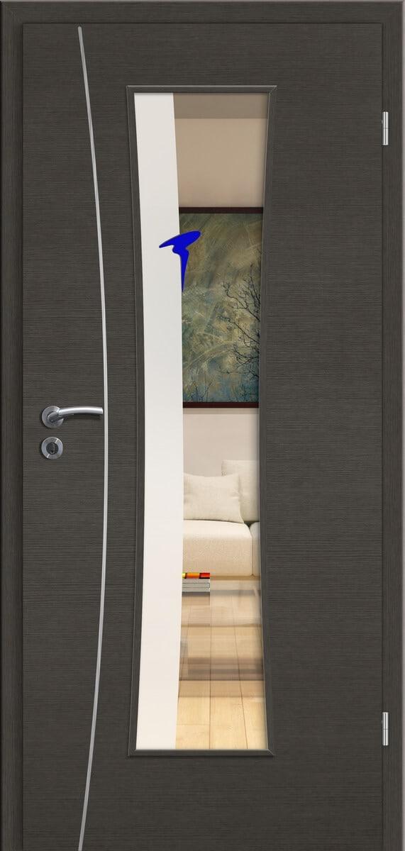 CPL Elegance Pisa cE21 Graphit gebürstet quer - LMB - Rubin 005 blau