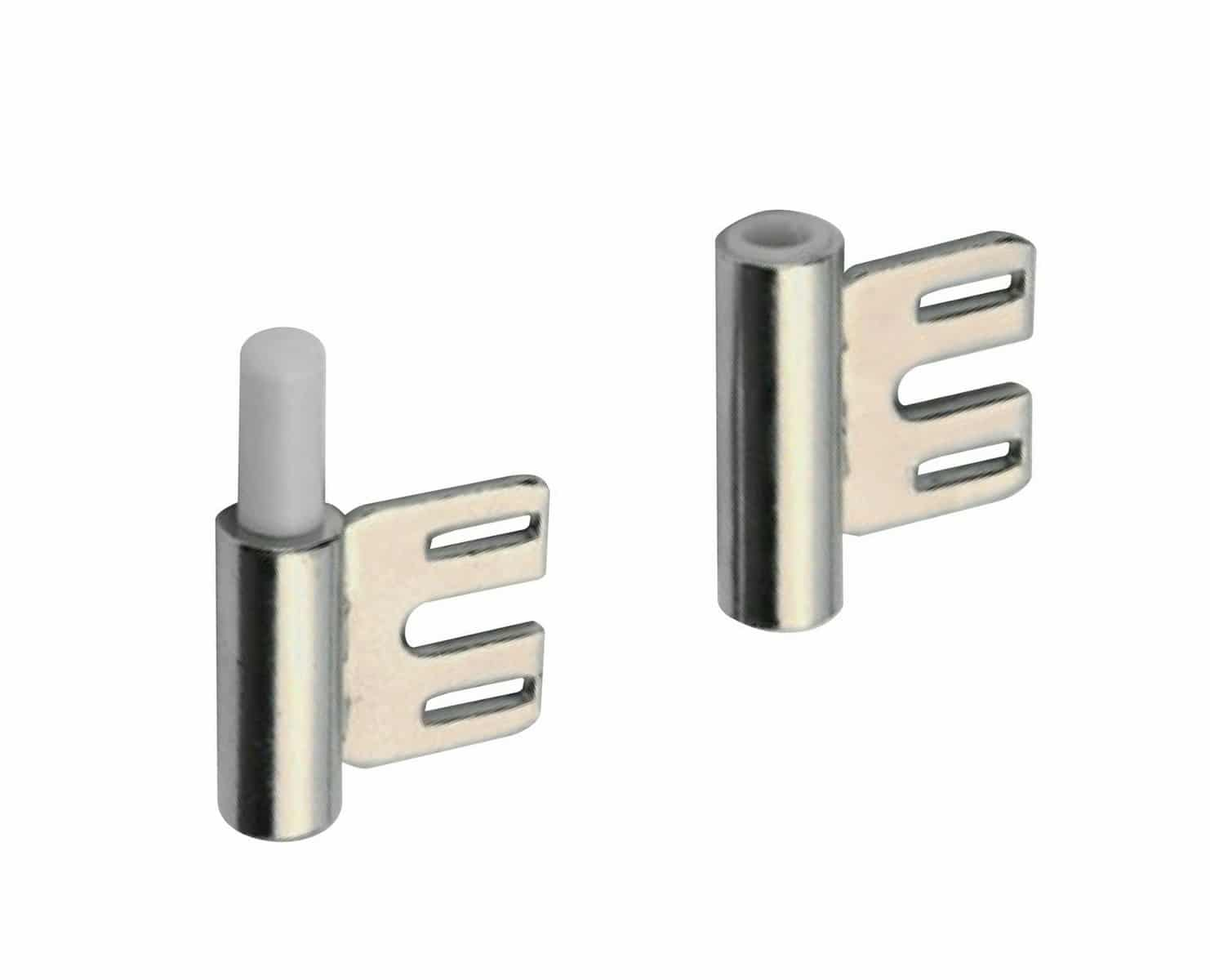 Bandunterteile Standard vernickelt für Stahlzarge