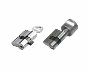 Verriegelungen mit Profilzylinder für Glastüren