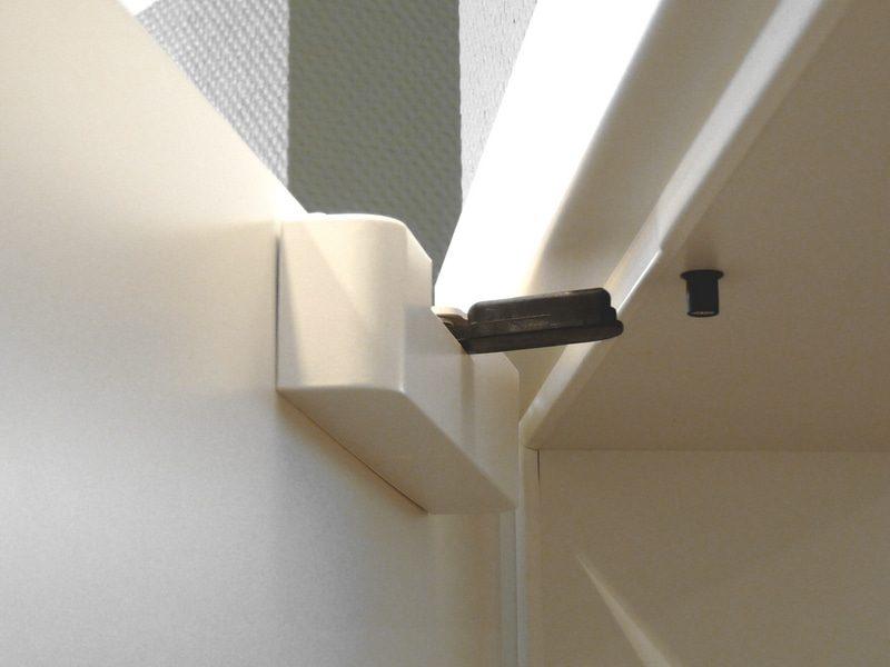 Softdämpfer für Holztüren - Tür geöffnet