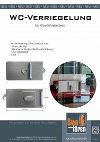 WC-Verriegelung für Glasschiebetüren