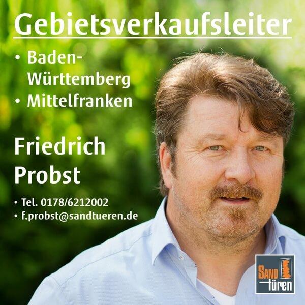 Gebietsverkaufsleiter Friedrich Probst