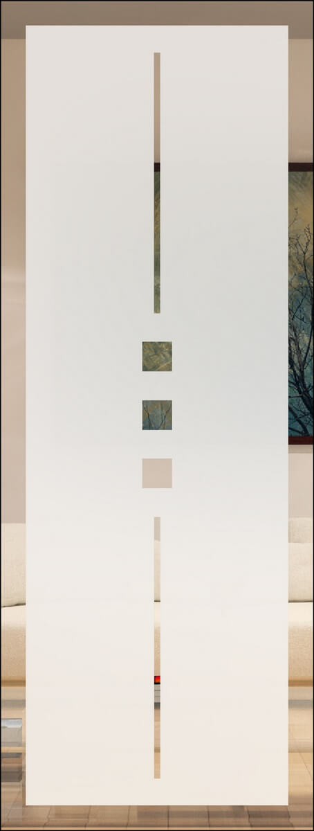 Jade 2 negativ - sandgestrahlt mit Rand