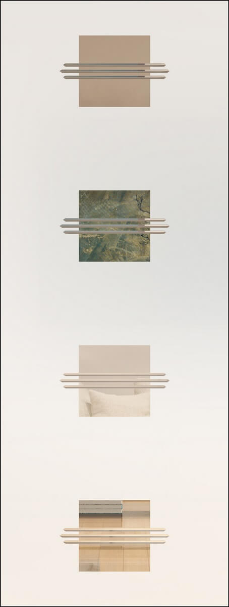Opal 9 negativ - sandgestrahlt, V-Rillen
