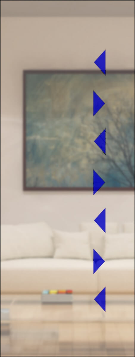 Rubin 021 - sandgestrahlt, Farbguss blau