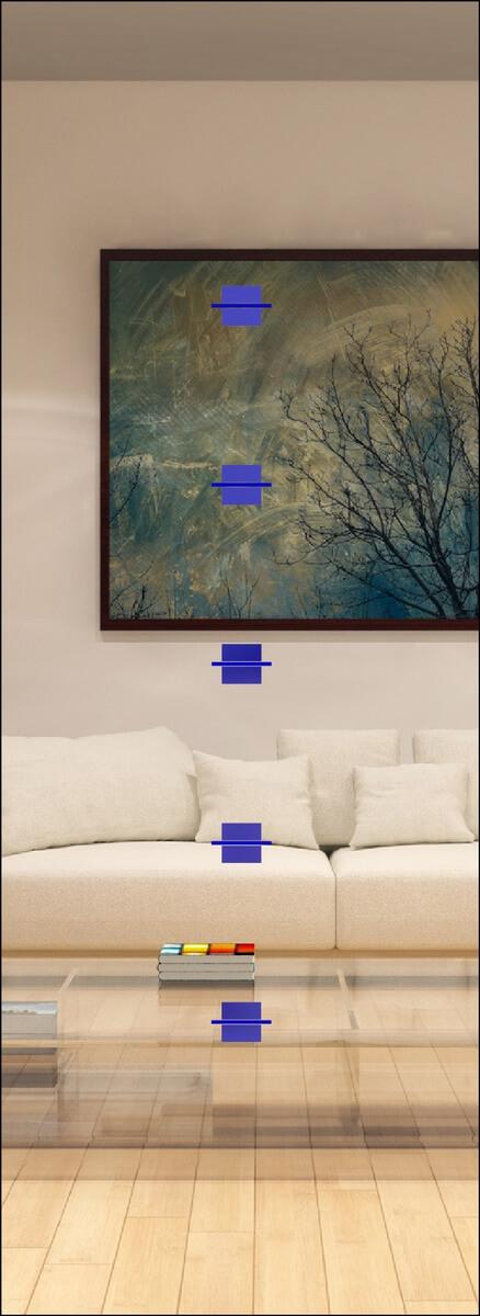 Rubin 004 - sandgestrahlt, Farbguss blau
