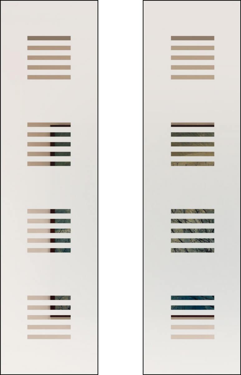 Zirkon 9 negativ - sandgestrahlt