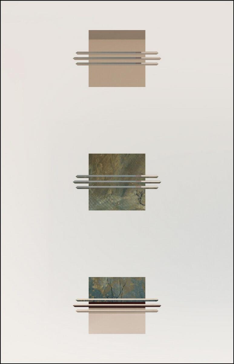 Opal 9 negativ - sandgestrahlt, V-Fugen