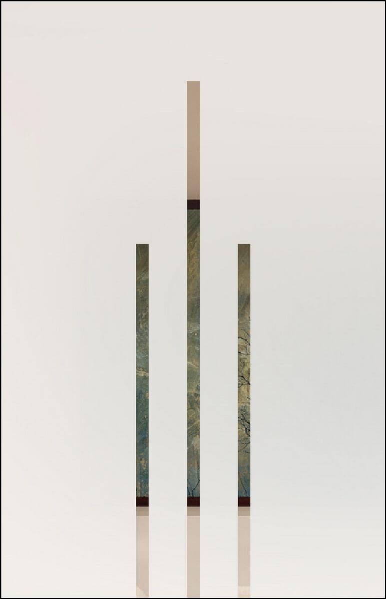 Zirkon 7 negativ - sandgestrahlt