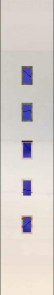 Rubin 047 - sandgestrahlt mit Farbguss, beidseitig