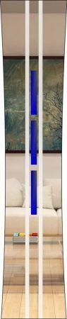 Rubin 034 - sandgestrahlt, Farbguss blau