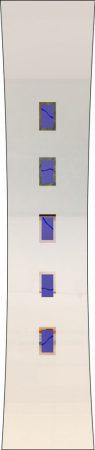 Rubin 047 - sandgestrahlt, Farbguss blau