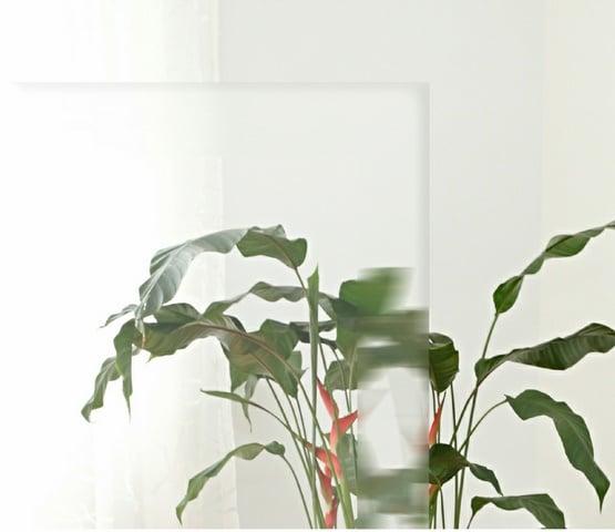 Float (Klarglas) mit Facettenschliff