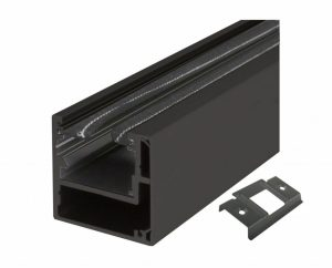 Slide-On-Anschlagpfosten Glasschiebetüren OF Black Nero