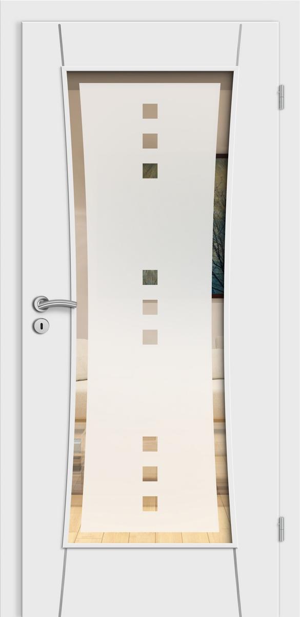E-Design Rimini wE15 Weißlack - LA i15 Rimini - Quadro 9 negativ mit Rand