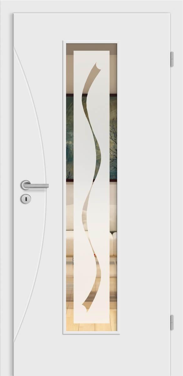Linea Ancona wN20 Weißlack - LM - Jade 3 negativ mit Rand