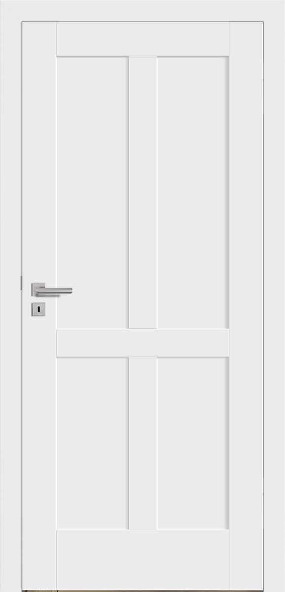 Stilistentür Perugia Weißlack – stumpf einschlagend