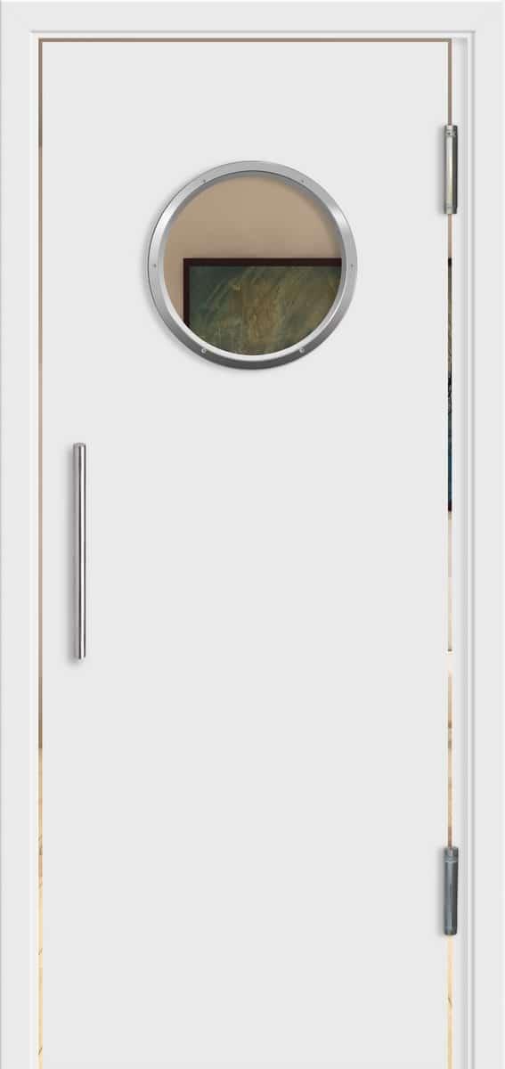 Design Weißlack – Bullauge – Float – Pendeltür