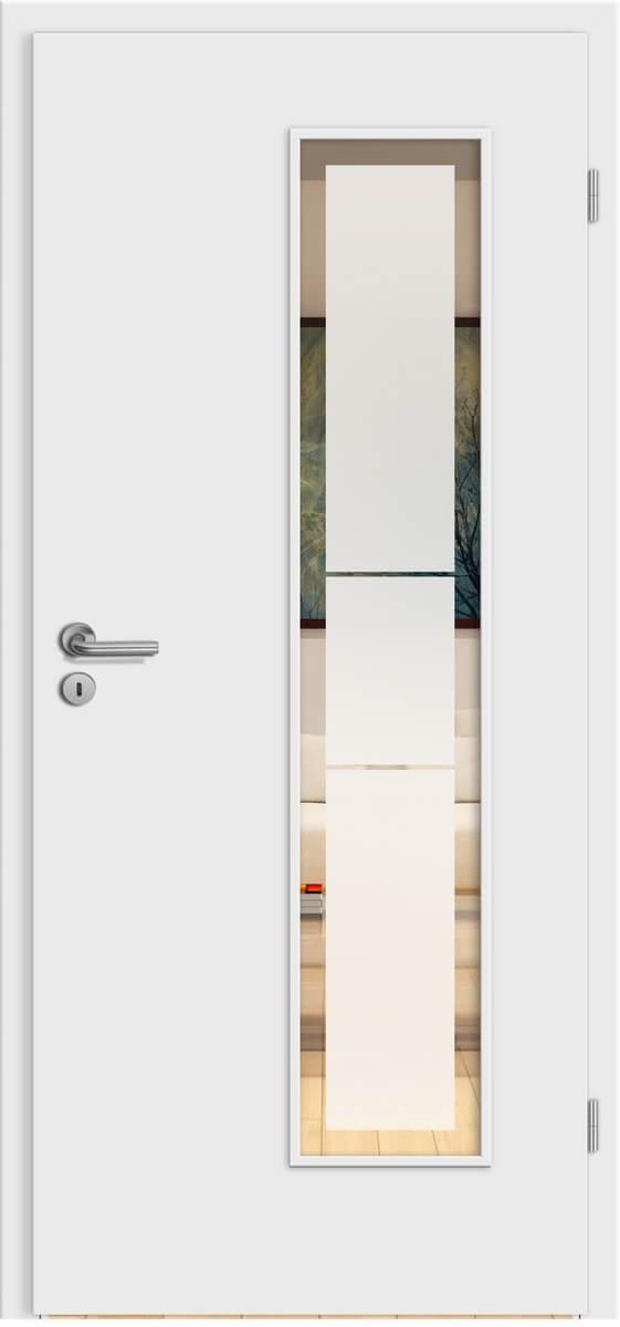 Design Weißlack – LV – Linea 2 negativ mit Rand