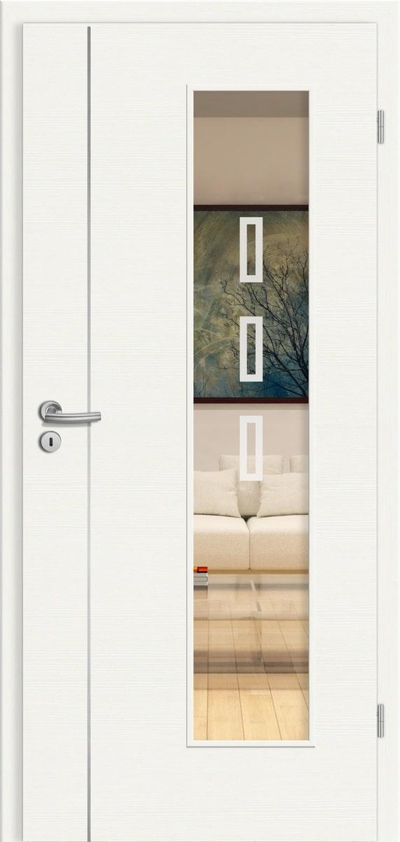CPL Elegance Florenz cE19 Weiß gebürstet quer - LV - Rubin 051