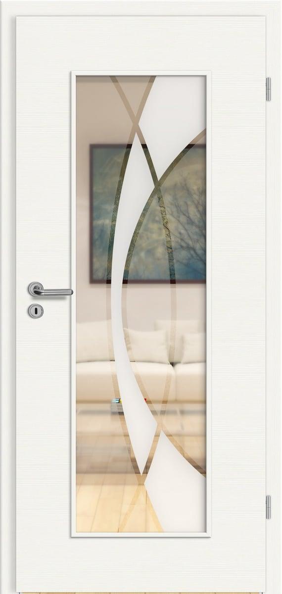 CPL Elegance Weiß gebürstet quer - RM - Granat 3
