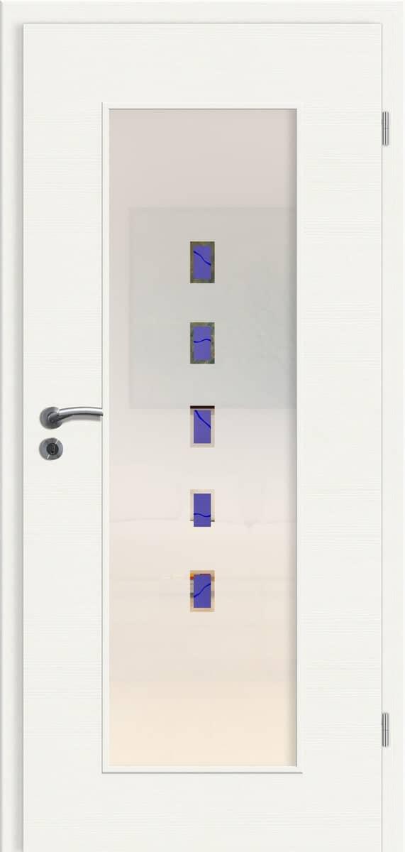 CPL Elegance Weiß gebürstet quer - RM - Rubin 047 blau
