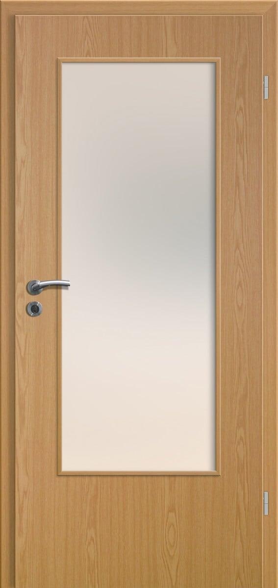 Relativ CPL Top + Puristo Eiche hell glatte Tür DIN-LA - Sand Türen OA63