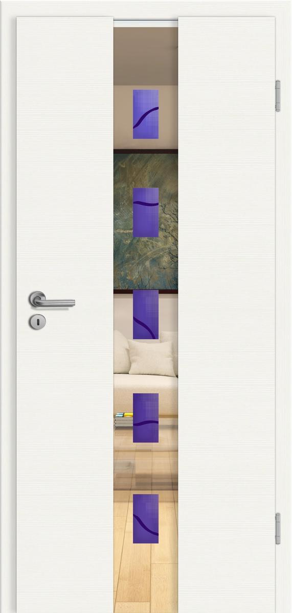 CPL GGRT Domo Weiß gebürstet quer - Rubin 048 blau