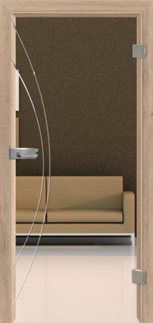Ganzglastür Intarsit 22 Modell 2