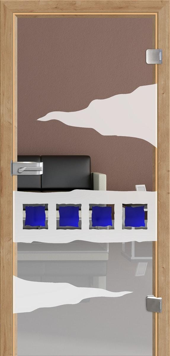 Ganzglastür Saphir 6 Variante