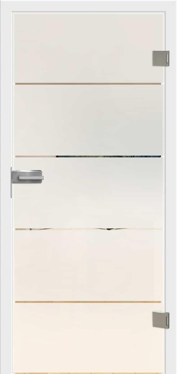 Ganzglastür Siero 02 Siebdruck