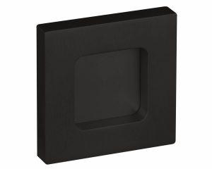 Griffmuscheln eckig für Glastüren OF Black Nero