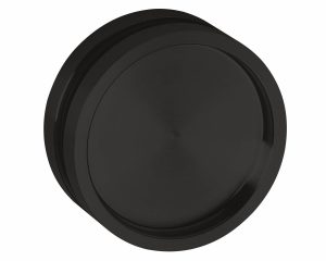 Griffmuscheln rund für Glastüren OF Black Nero